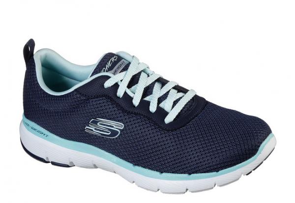 Skechers Flex Appeal 3.0 - First Insight Damen Sneaker 13070 (Blau-NVAQ)