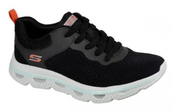 Skechers Arc Waves Bobs Damen Sneaker 117168 (schwarz-BLK)