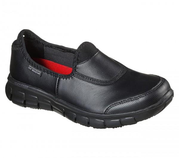 Skechers Relaxed Fit: Sure Track Damen Schuhe 76536EC (Schwarz-BBK)