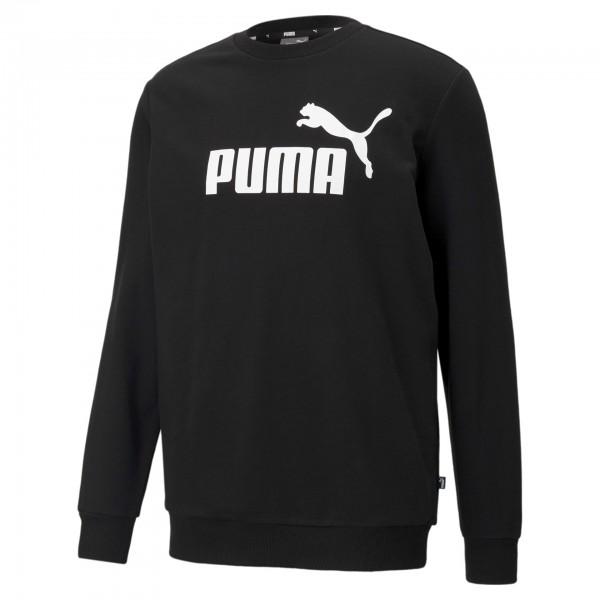 Puma ESS Big Logo Crew TR Herren Pullover 586680 (Schwarz 01)