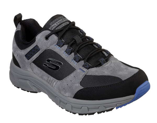 Skechers Relaxed Fit: Oak Canyon Herren Schuhe (Grau/Schwarz-CCBK)