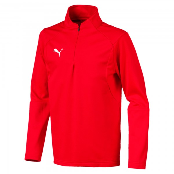 Puma LIGA Training 1/4 Zip Jr Kinder Shirt 655646 (Rot 01)
