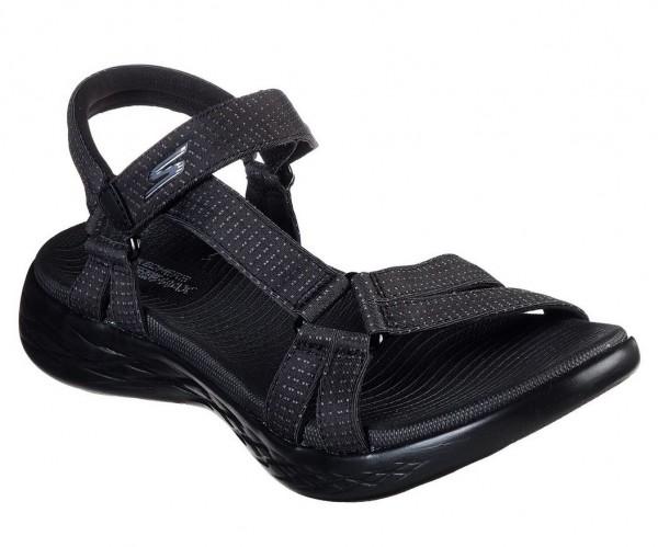 Skechers On the GO 600 - Brilliancy Damen Sandale 15316 (Schwarz-BBK)