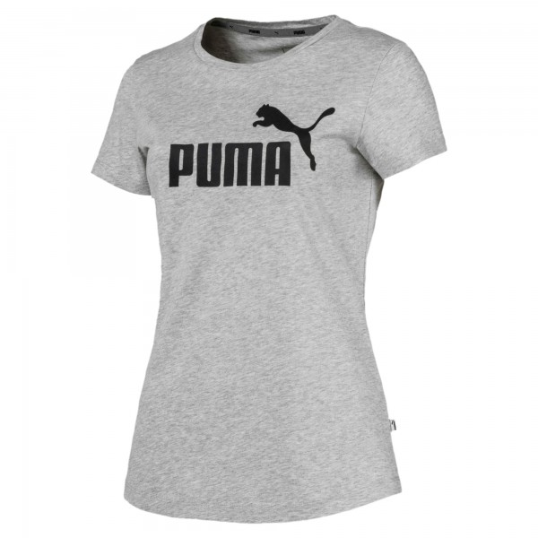 Puma ESS Logo Tee Damen T-Shirt (Grau 04)