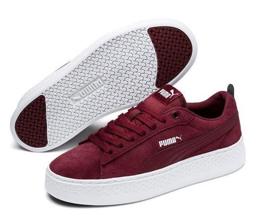 Puma Smash Platform SD Damen Sneaker (Rot 07)