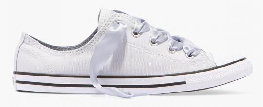 Converse CTAS Dainty Canvas Satin Pure Platinum low Damen Sneaker 560641C (Weiß)