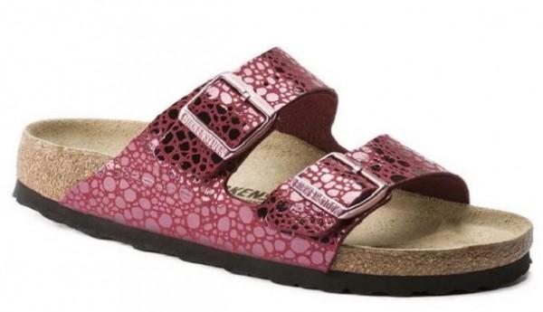 Birkenstock Arizona Birko-Flor Damen Sandale schmal 1014369(Rot)