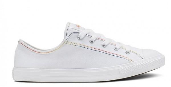 Converse Chucks Taylor All Star Dainty Ox Rainbow Damen Sneaker 564979C (Weiß)