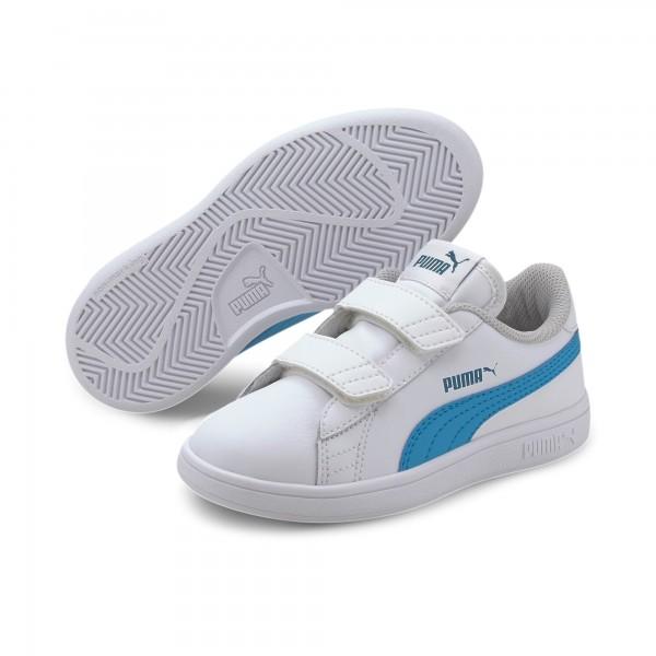 Puma Smash v2 L V PS Kinder Sneaker 365173 (Weiß 21)