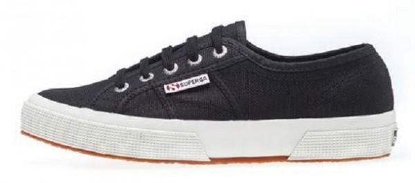 Superga 2750 Cotu Classic Damen Sneaker (Schwarz/Weiß F83)