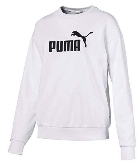 Puma ESS Logo Crew Sweat TR Damen Pullover (Weiß 02)