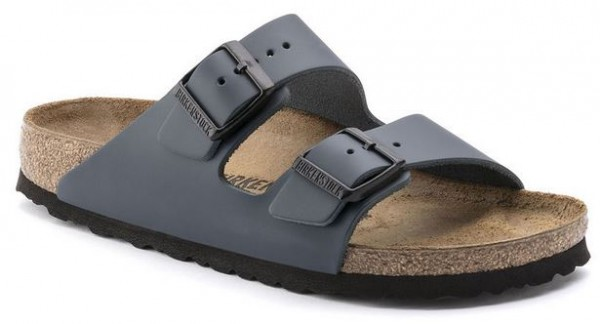 Birkenstock ARIZONA Leder normal Pantolette 0051151(blau)