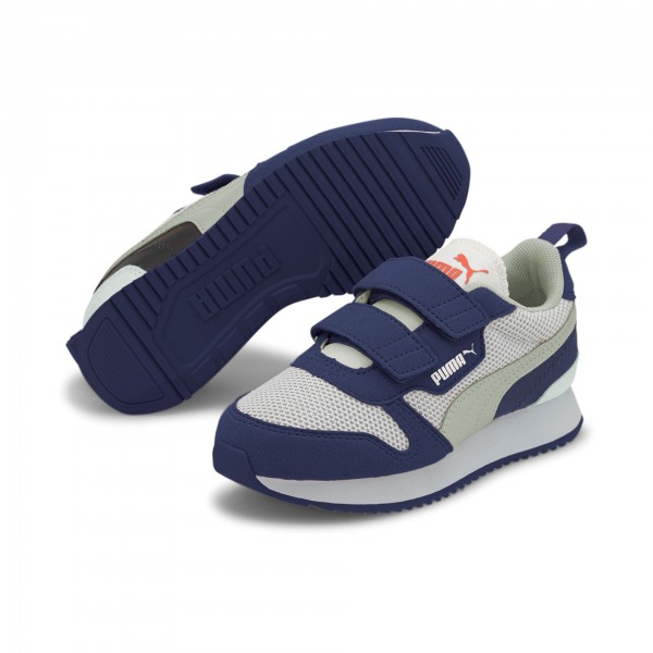 Puma R78 V PS Kinder Sneaker 373617 (Blau 14)