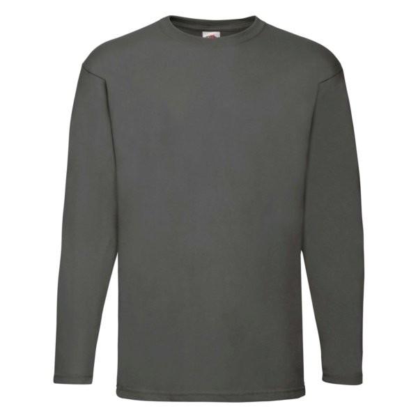 Fruit of the Loom Herren Langarm T-Shirt 61-038-0 (Grau GL)