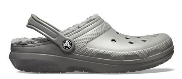 Crocs Classic Lined Clog Hausschuhe (Slate Grey/Smoke)