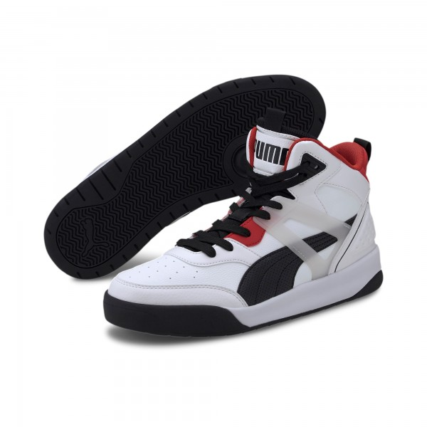 Puma Backcourt Mid Herren Sneaker 374139 (Weiß 01)