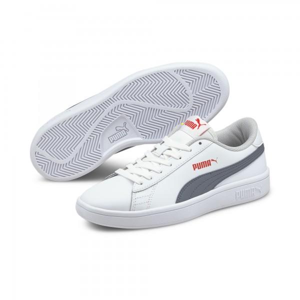 Puma Smash v2 L Jr Kinder Sneaker 365170 (Weiß 25)