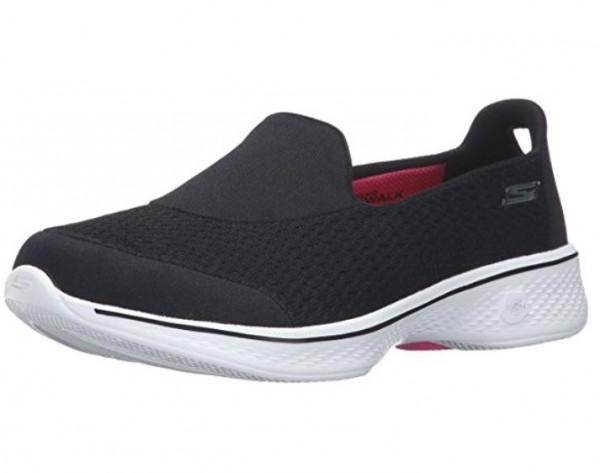 Skechers Gowalk4 Damen Sneaker (Schwarz-BKW)