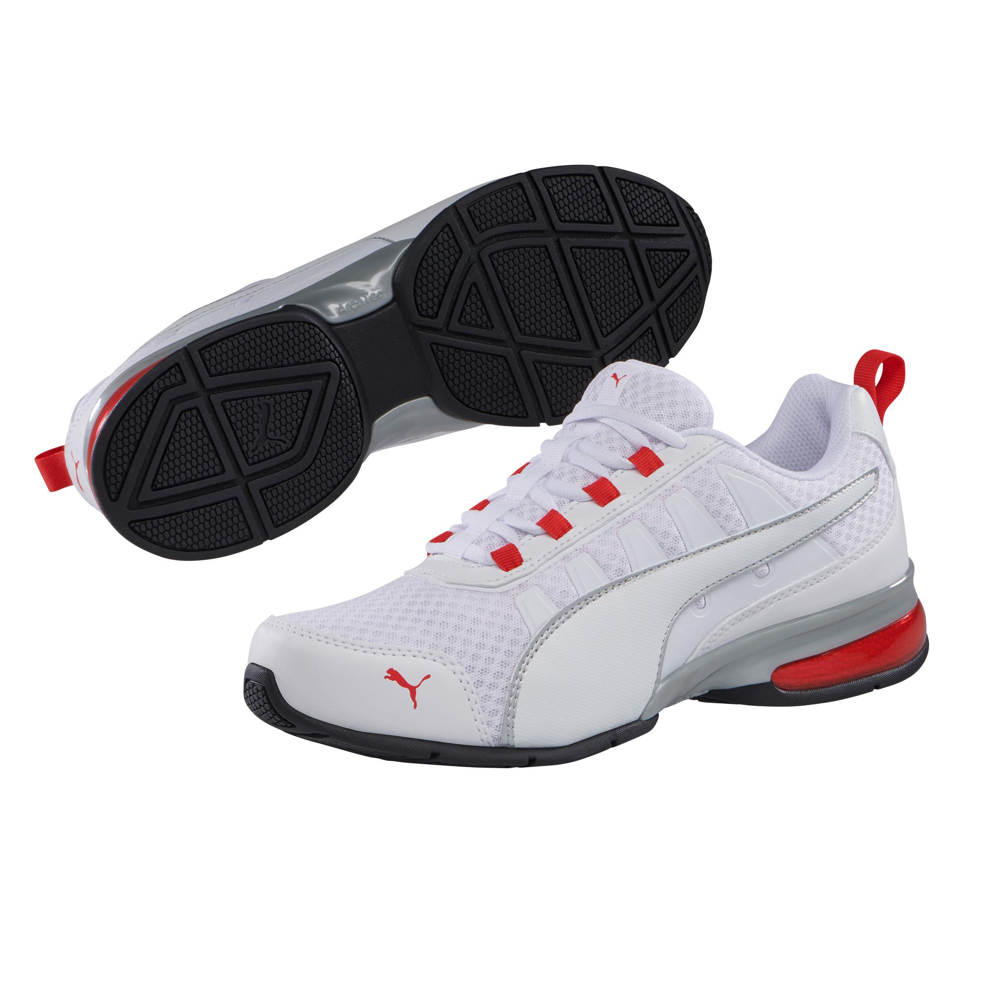 Puma Leader VT Mesh Herren Sneaker 365292 (White Red 08)