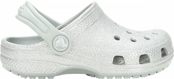 Crocs Classic Glitter Clog Kinder (Silver)