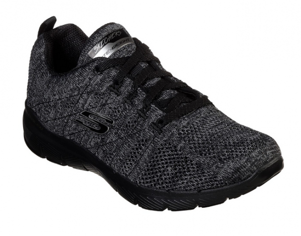 Skechers Flex Appeal 3.0 - High Tides Damen Sneaker (Schwarz-BKCC)