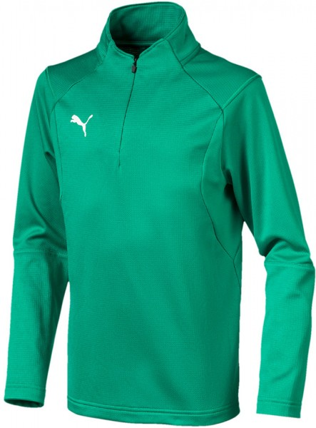 Puma LIGA Training 1/4 Zip Jr Kinder Shirt 655646 (Grün 05)