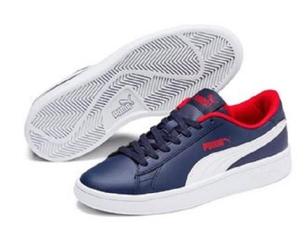 Puma Smash v2 L Junior Sneaker 365170 (Blau 13)