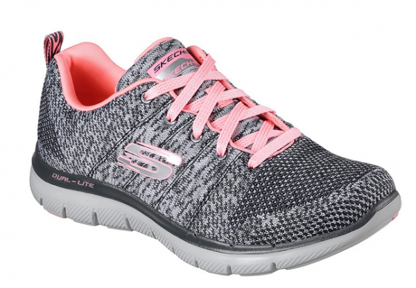Skechers Flex Appeal 2.0 High Energy Damen Sneaker (Grau-CCCL)