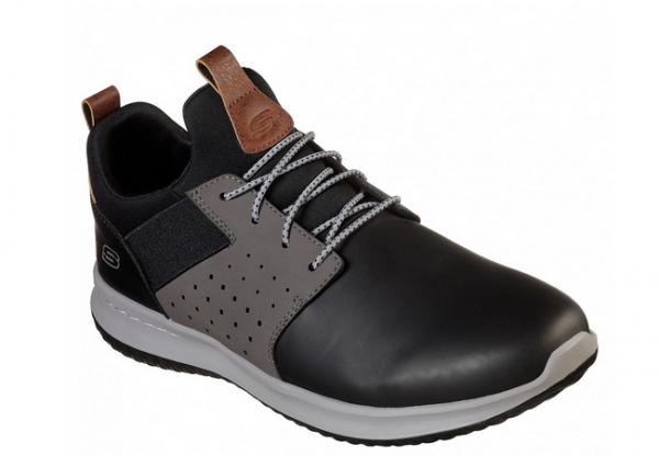 Skechers Delson - Axton Herren Sneaker (Schwarz-BKGY)
