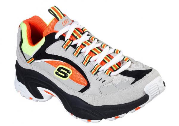 Skechers Stamina - Cross Road Damen Sneaker 13450 (Grau-GYOR)