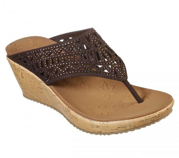 Skechers Beverlee - Summer Visit Damen Sandale 31715 (Braun-CHOC)