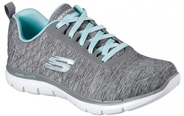 Skechers Flex Appeal 2.0 Damen Sneaker 12753 (Grau-GYLB)