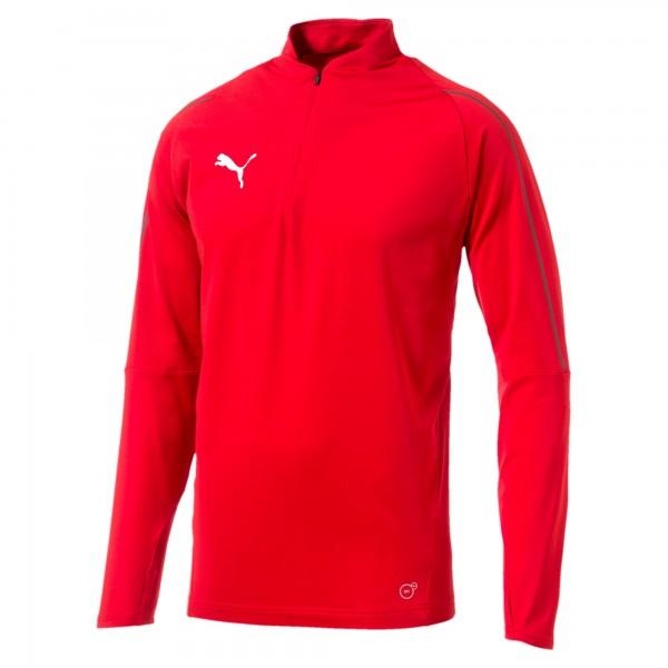 Puma FINAL Training 1/4 Zip Herren Shirt 655289 (Rot 01)