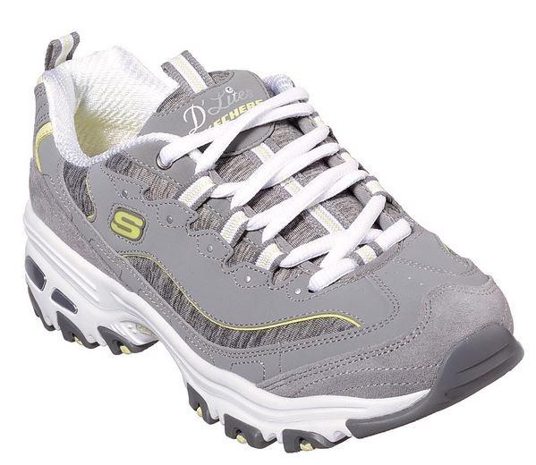 Skechers D'Lites - Me Time Damen Sneaker 11936 (Grau-GYYL)