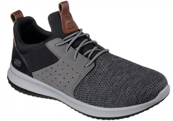 Skechers Delson-Camben Herren Sneaker 65474 (Schwarz/Grau-BKGY)