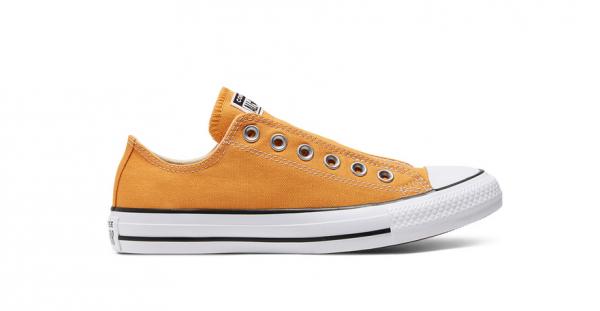 Converse Chuck Taylor All Star Slip On Damen Sneaker 166768C (Orange)