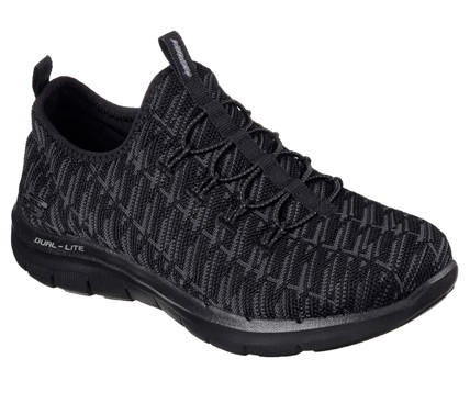 Skechers Flex Appeal 2.0 - Insights Damen Sneaker 12765 (Schwarz-BBK)
