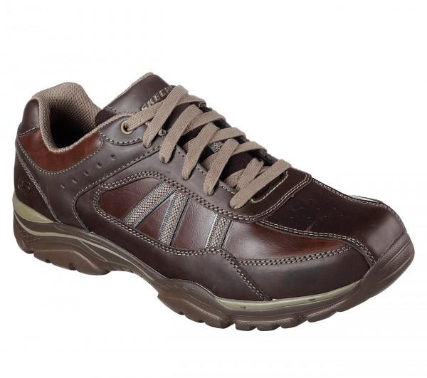Skechers Relaxed Fit: Rovato - Texon Herren Sneaker 65418 (Braun-CHOC)