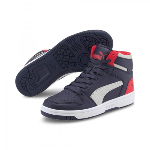 Puma Rebound Layup SL Jr Kinder Sneaker 370486 (Blau 11)