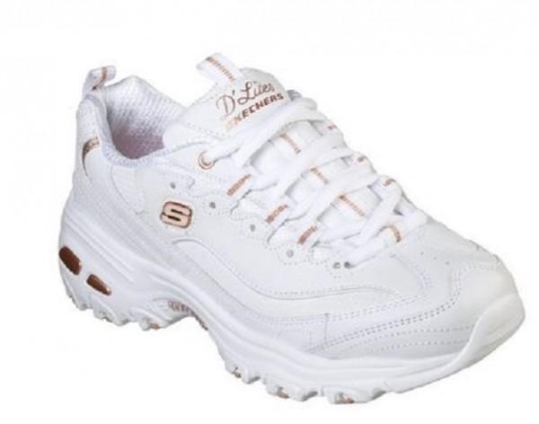 Skechers D'Lites - Fresh Start Damen Sneaker 11931(Weiß-WTRG)