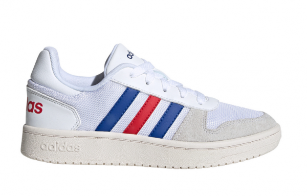 Adidas Hoops 2.0 K Kinder Sneaker FW9120 (Weiß)