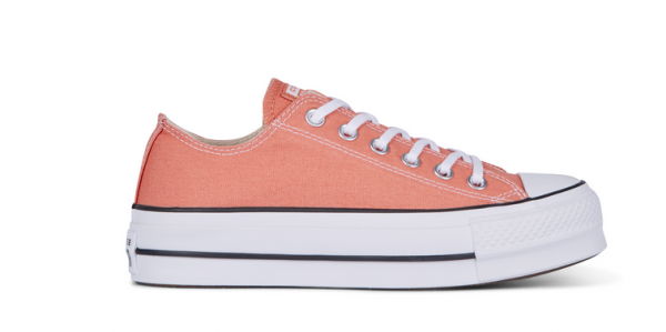 Converse Chuck Taylor All Star Lift Ox Low Damen Sneaker 563495C (Orange)