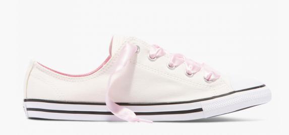 Converse CTAS Dainty Canvas Satin low top Damen Sneaker 560642C (white)