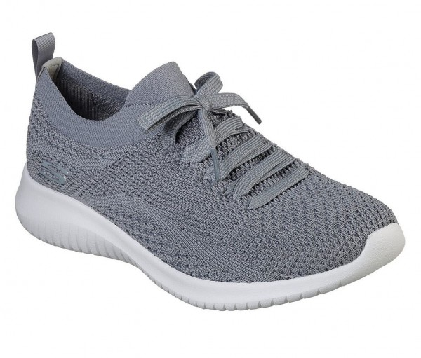 Skechers Ultra Flex Statements Damen Sneaker 12841 (Grau-SLT)
