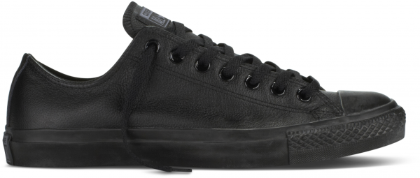 Converse Chucks Taylor All Star Low Leder Sneaker 135253C (schwarz mono)