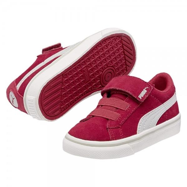 Puma S Vulc V Kinder Sneaker (Rot 36)