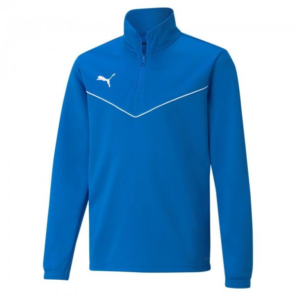 Puma Teamrise 1/4 ZIP Top JR Kinder Sweatshirt 657395 (blau 02)
