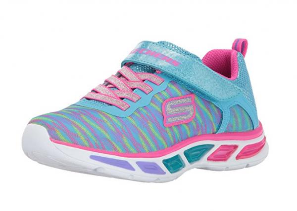 Skechers S Lights Litebeams Colorburst Kinder Sneaker 10767L (Türkis-TQMT)