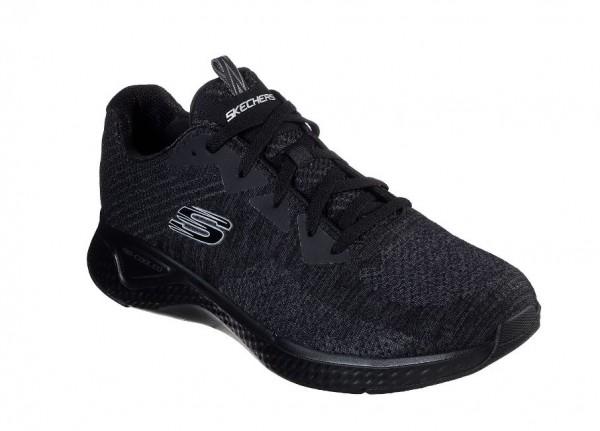 Skechers Solar Fuse - Kryzik Herren Sneaker 52758 (Schwarz-BBK)