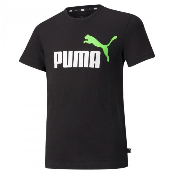 Puma Ess+ Col Logo Tee B Kinder T-Shirt 586985 (Schwarz 86)